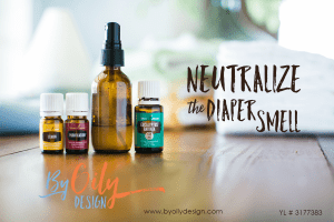 A busy mom's way to neutralize the diaper smell