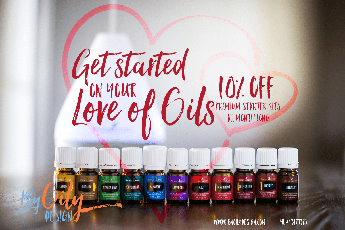 Young Living Premium Starter Kit's on sale this month. Get 10% off your starter kit all month long. what are you waiting for, order now and start a love affair with oils.