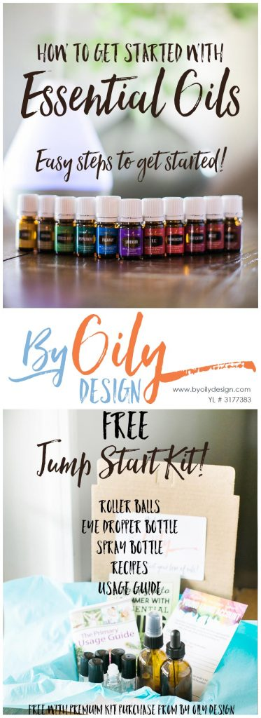 Teaching busy mom's how to get started using essential oils. Easy steps to beginning to use essential oils. All Young living starter kit oils. Free Jump start kit when you purchase a kit from byoilydesign.com YL member # 3177383