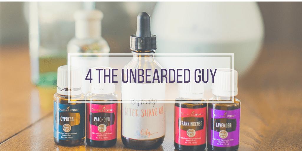 Men's skin cre for the unbearded buy. Essential oils for men.