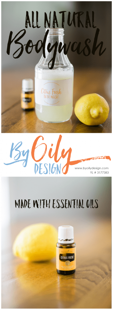 How to make the BEST homemade body wash! The perfect homemade body wash for the whole family. I love this homemade body wash featuring Citrus Fresh Essential Oil. Make it all your own by choosing your own favorite Essential Oil. All natural bodywash made with essential oils. Young Living Essential Oils. www.byoilydesign.com member #3177383