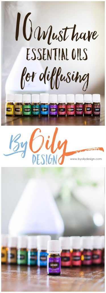 10 must have essential oils for diffusing. How to use essential oils in everyday life. Great ideas using your essential oil starter kit.