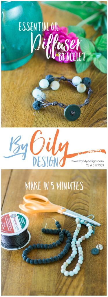 Super easy DIY essential oil diffuser bracelet using Lava rock beads and stone. How to make a diffuser bracelet and how to wear essential oils.www.byoilydesign.com YL#3177383