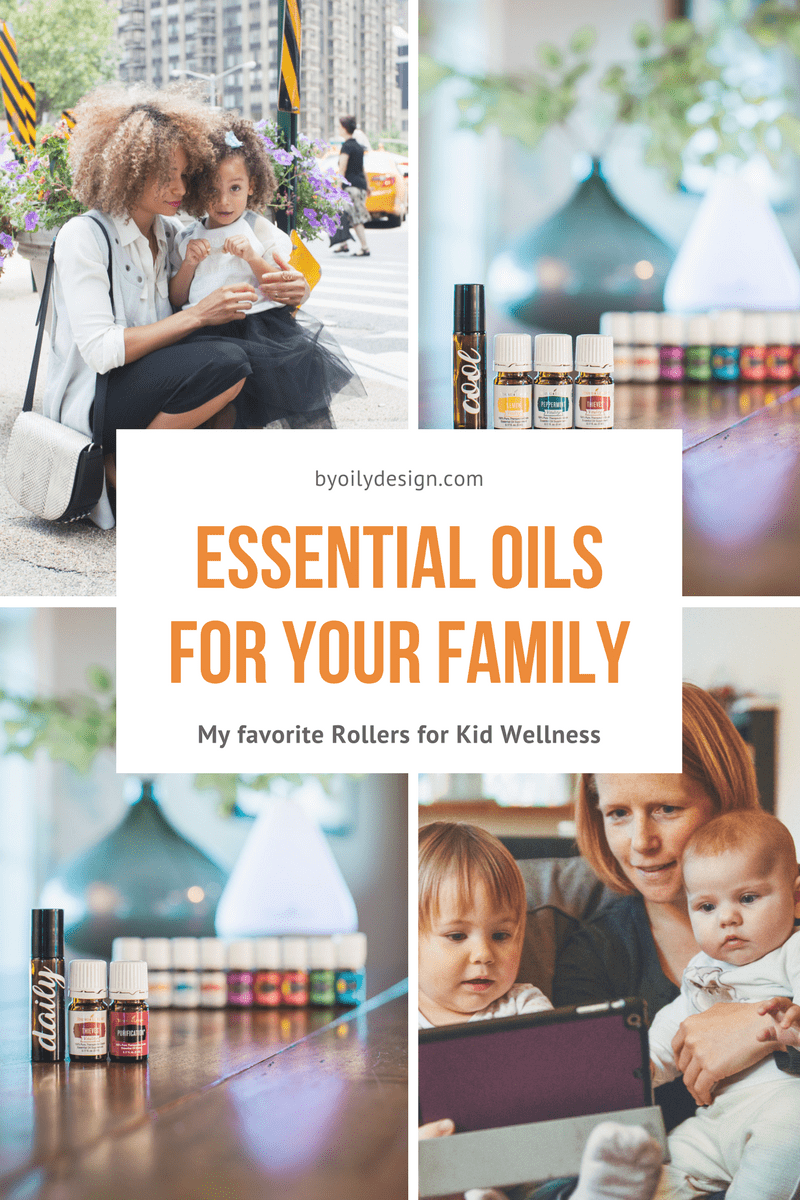 mothers and kids, essential oil bottles