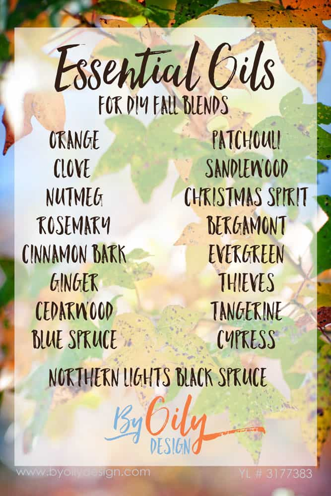 How to use Essential oils to create an amazing fall scent recipes for your home. DIY essential oil blends for fall. Autumn blends for diffusing. www.byoilydesign.com YL#3177383