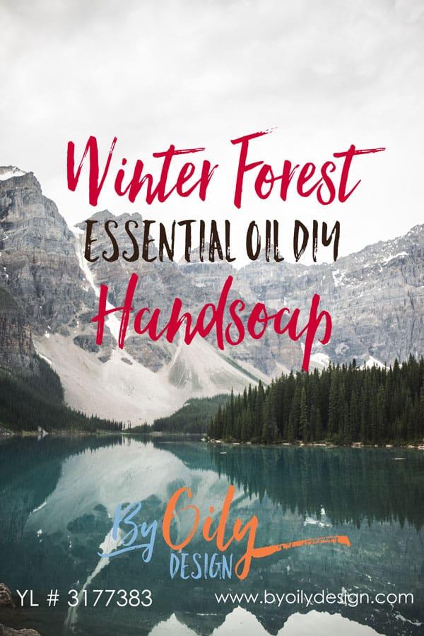 Essential Oil DIY Handsoap. Christmas Inspired DIY liquid Handsoap. Forrest scented handsoap. Holiday Inspired Handsoap