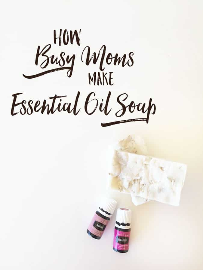 Create in 5 simple steps this essential oil inspired soap recipe