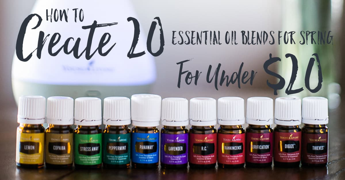 How to create 21 of the best essential oil blends for spring for under $20. Made with only Premium Starter Kit oils, Lemongrass, Orange and Rosemary Vitality essential oils. Essential oils for spring YL #3177383