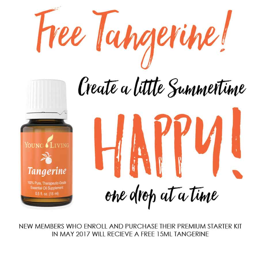 Get a free 15ml bottle of Tangerine Oil when you sign up