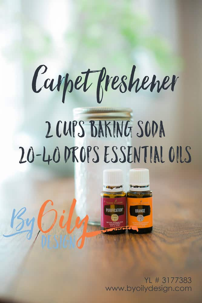 Neutralize house smells with this DIY carpet freshener using baking soda and essential oils. Create a simple non toxic carpet refresher using essential oils. House smells; pets; how to remove smells; carpet powder; homemade carpet deodorizer; how to make carpet refresher; upholstery deodorizer; baking soda; carpet deodorizer; DIY cleaning products; Thrifty cleaning products; saving money; Essential Oils; Young Living; Premium Starter Kit; Carpet freshener; byoilydesign; Cleaning with Essential Oils; Carpet Refresher YL #3177383