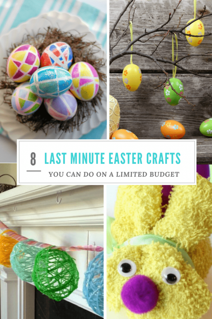 4 images of different Easter crafts
