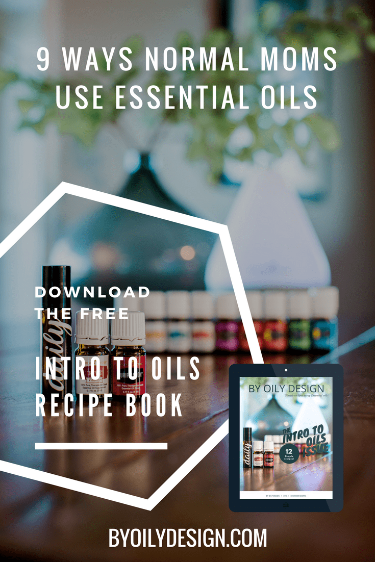 essential oil bottles and diffuser