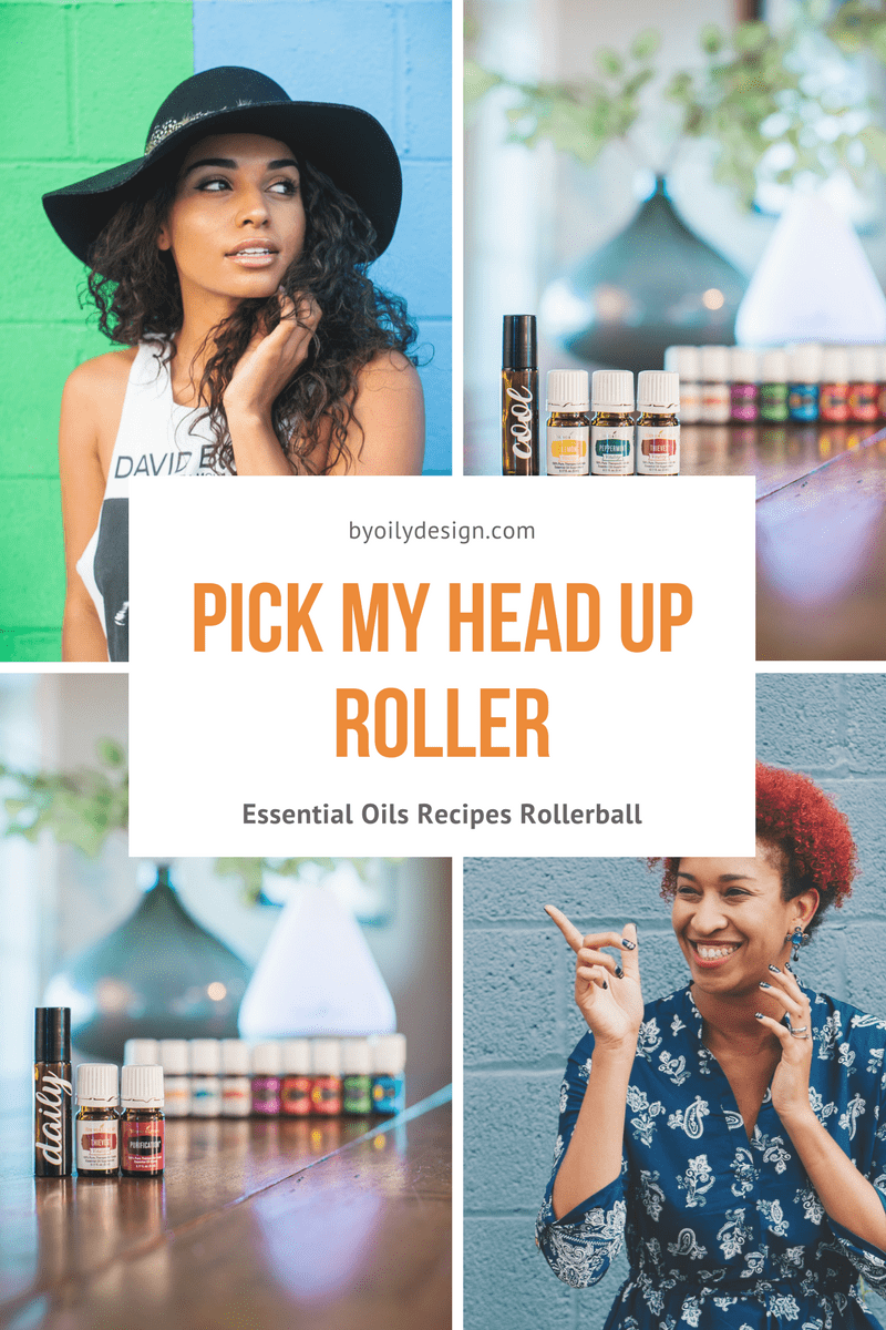 dark skin women and essential oil bottles and rollers