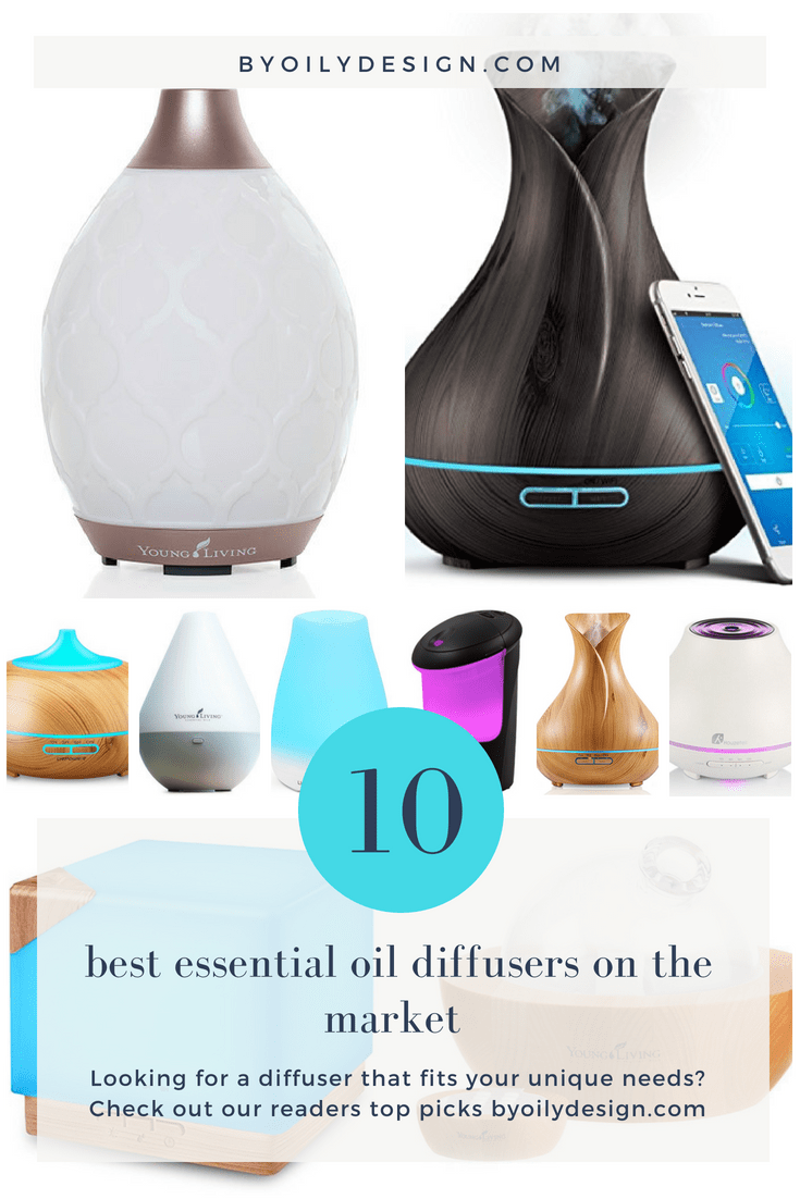 Images showing 10 popular essential oil diffusers