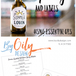 Essential Oil Spray bottles with free labels