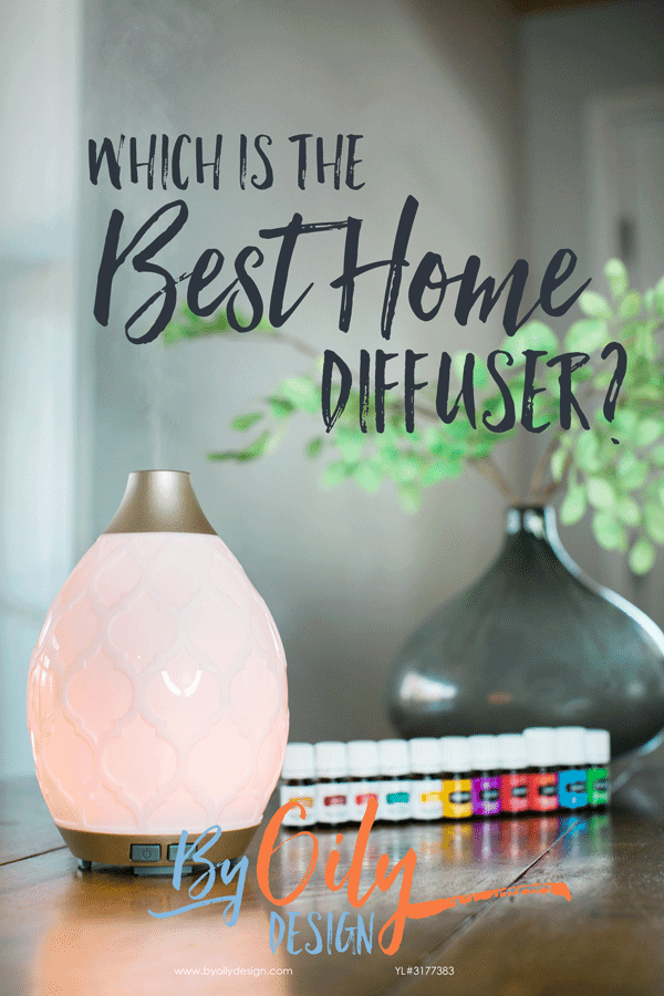 Best home diffuser sitting on a table with essential oils