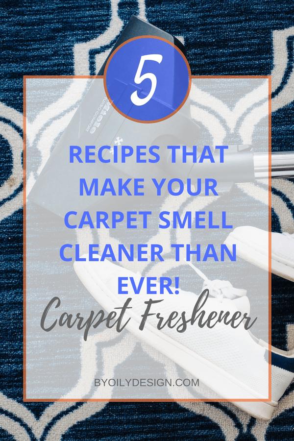 Vacuum and carpet with carpet freshener