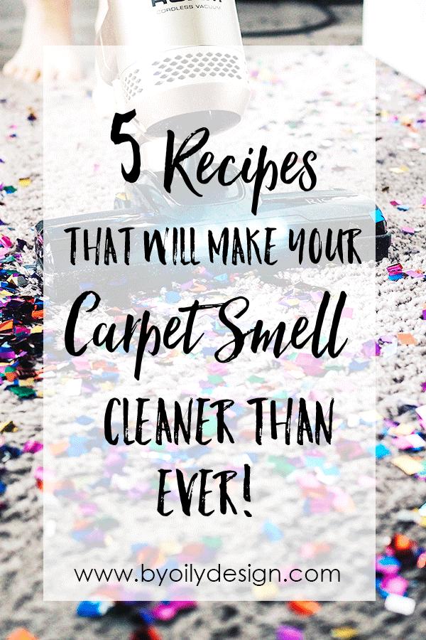 Carpet Freshener and vacuum