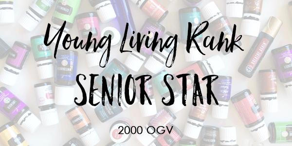 Young Living Rank of Senior Star 2000 OGV.