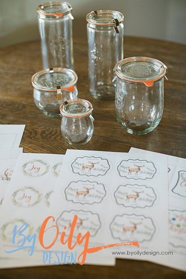 Weck Jars and printable DIY Christmas labels for gifts