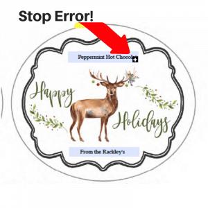 Christmas label error message