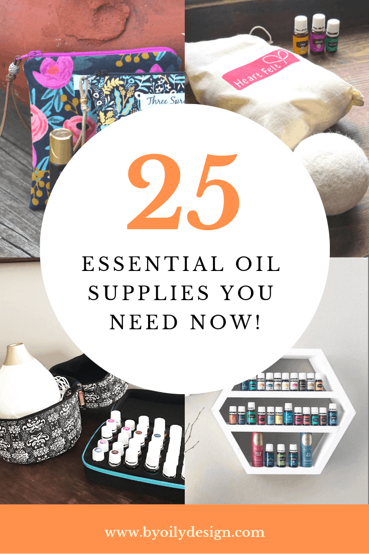 4 images of essential oil supplies