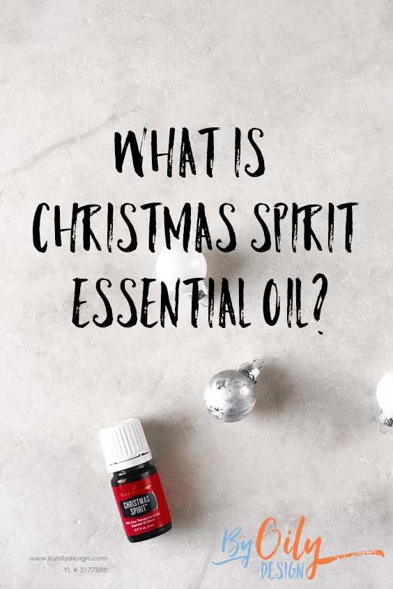 Christmas Spirit essential oil bottle