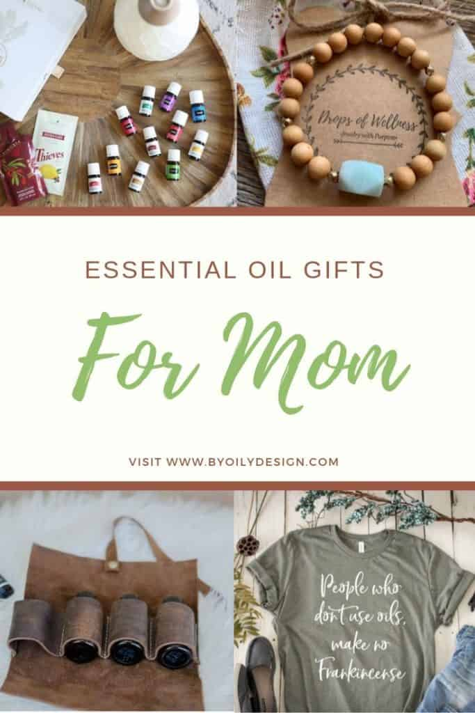 essential oil gifts for mom, diffuser bracelet, essential oils, leather essential oil pouch, essential oil tshirt