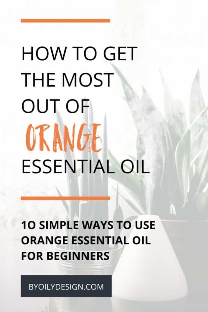 image of an essential oil diffuser diffusing Orange essential oil