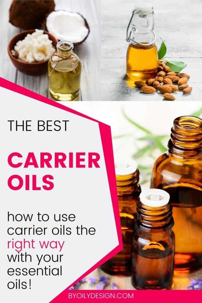 bottles of the best carrier oils