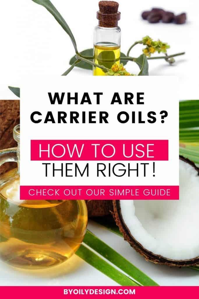 bottle of coconut carrier oil