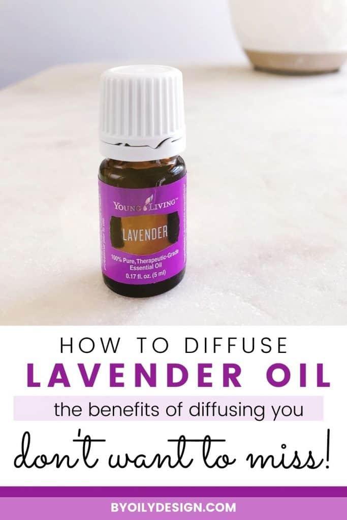 a bottle of lavender oil