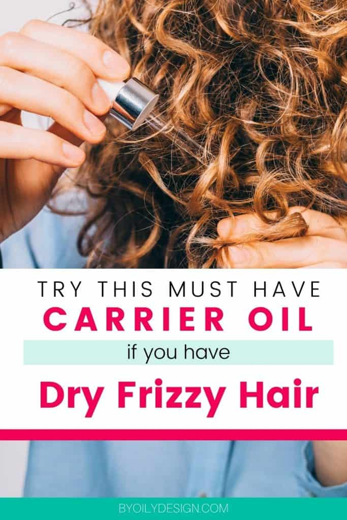 woman applying the best carrier oil for dry hair