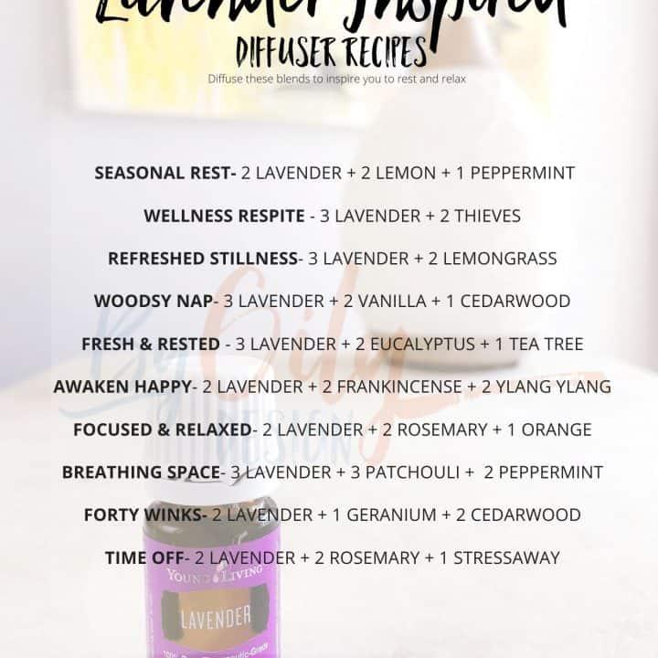 Lavender diffuser recipes