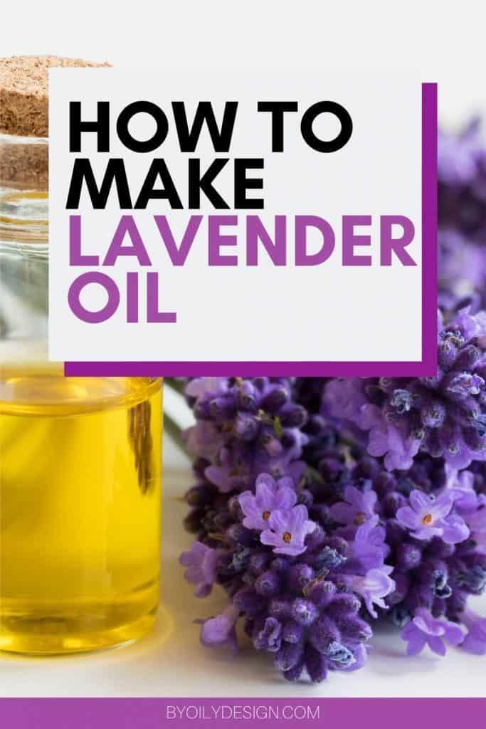 image of homemade Lavender oil