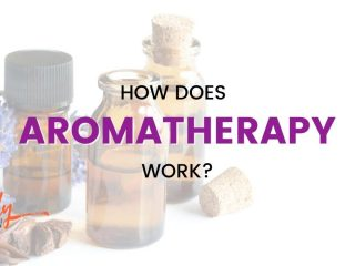 Aromatherapy bottles with the text how does aromatherapy work