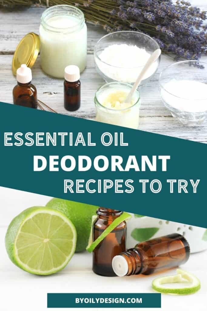 image of homemade deodorant and essential oils.
