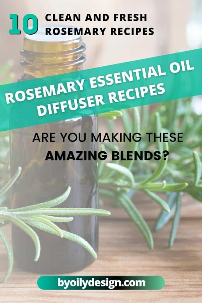 bottle of Rosemary essential oil
