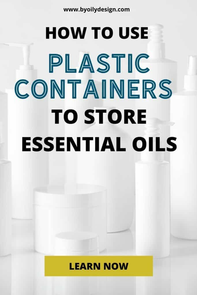samples of what type of plastic is safe for essential oils